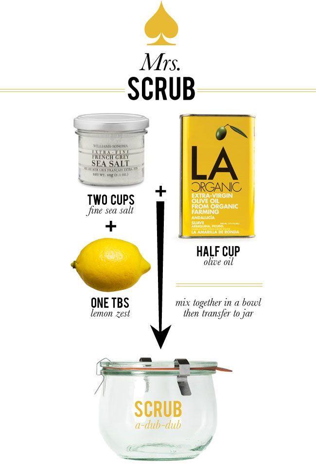 Exfoliante con aceite de oliva, limón y sal