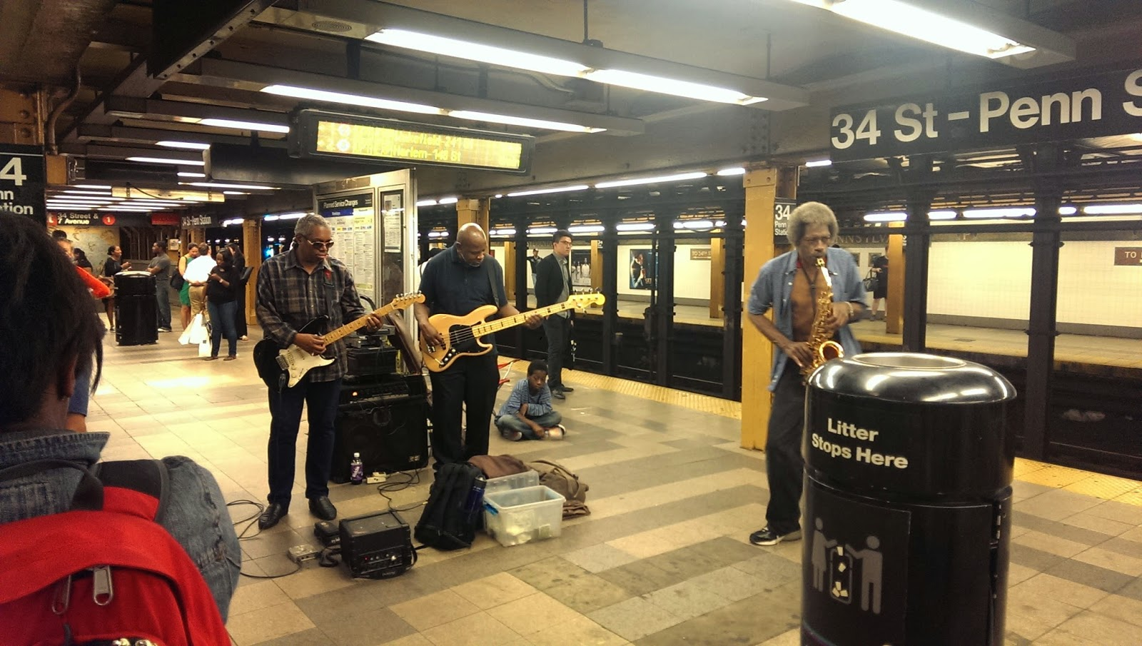 Band playing in NYC Subway