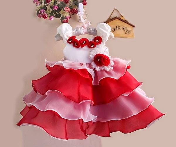 model gaun pesta anak perempuan import cantik