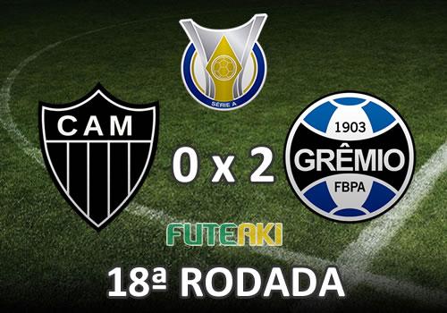 Veja o resumo da partida com os gols e melhores momentos de Atlético-MG 0x2 Grêmio pela 18ª rodada do Brasileirão 2015