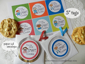 "Fun way to tell the kids ""They're one Smart Cookie!"