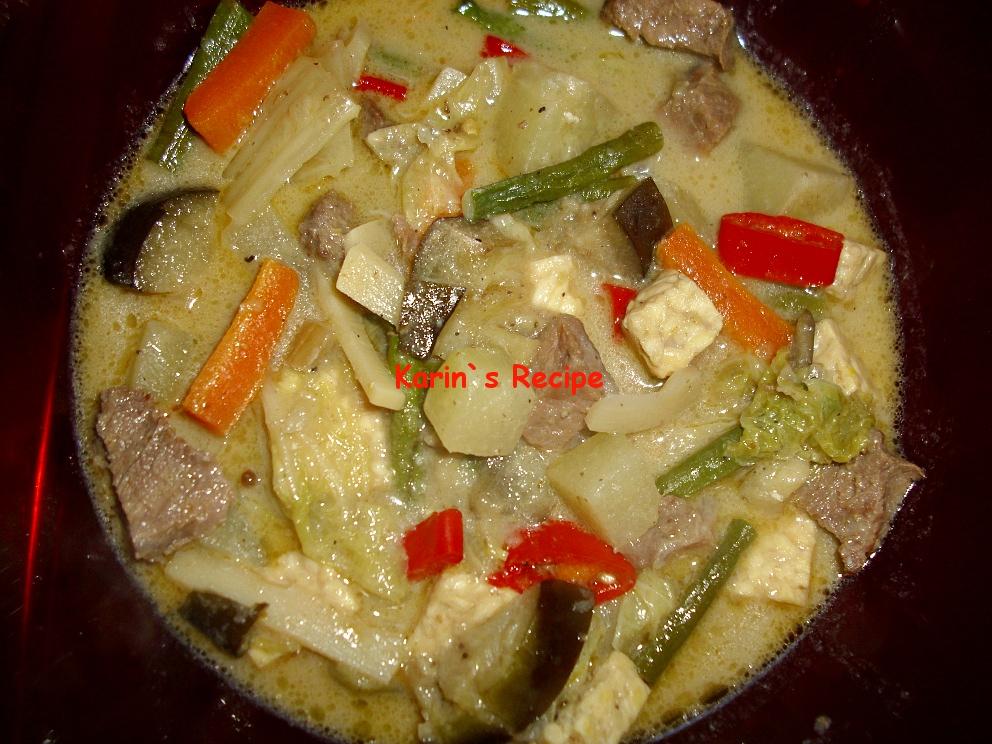 karin s recipe sayur lodeh javanese vegetables stew