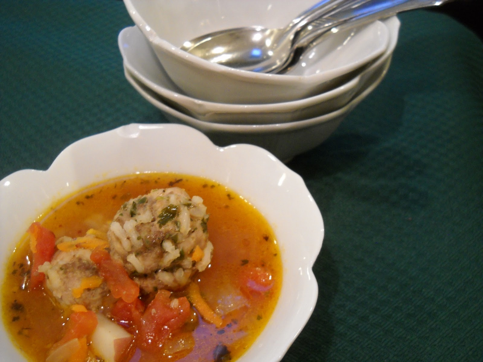 ... Woman: Gettin' Our Soup On: Sopa de Albondigas (Mexican Meatball Soup