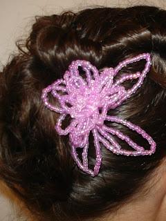 Pink Hair Flower