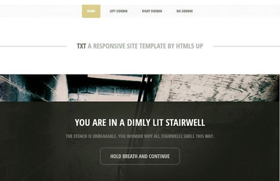 TXT web template