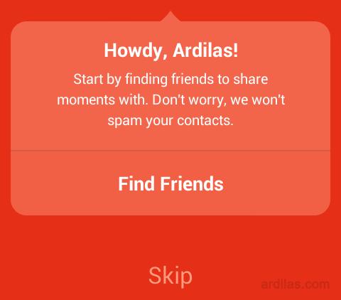 Cara Mendaftar / Membuat Akun di Aplikasi Path - Android - Find friend. Skip