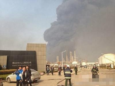 Nổ đường ống dẫn dầu tại Trung Quốc, thế giới lốp, lop xe, lốp xe ô tô, giá lốp, gia lop