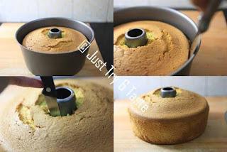 pisahkan kue dari loyang