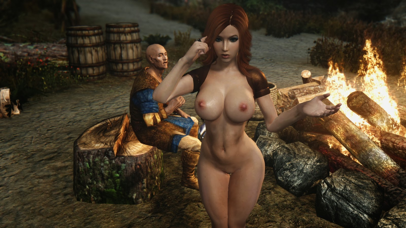 Oblivion sex mod with animated asshole and  hardcore pic