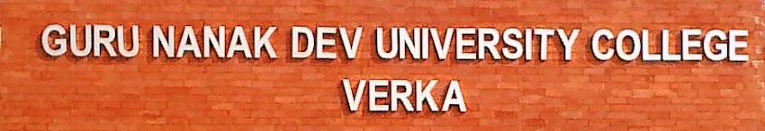 GNDU College Verka, GNDU Amritsar