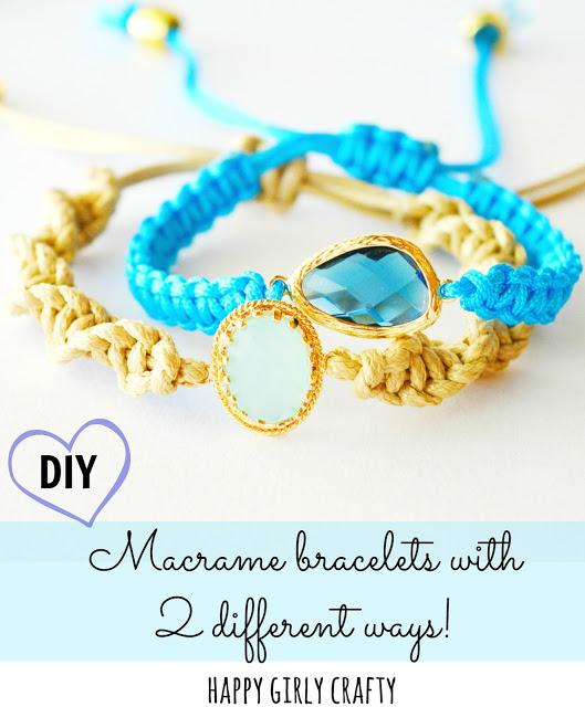 Gem macrame bracelets