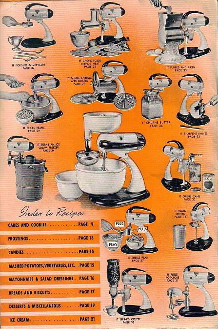 sunbeam mixmaster meat grinder instructions