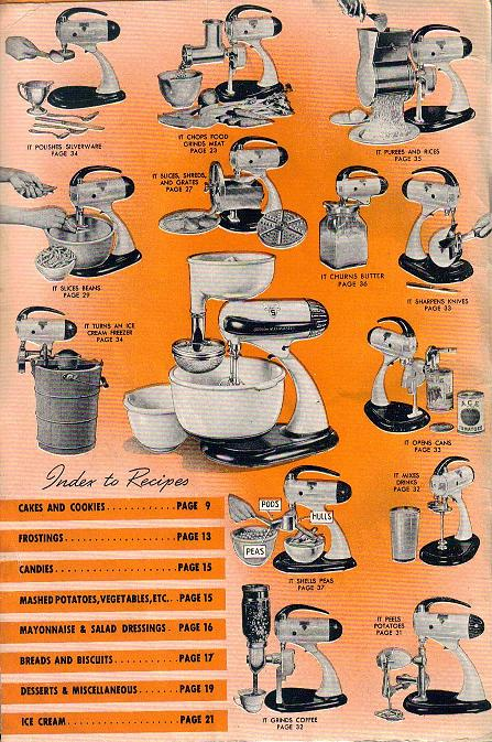 sunbeam mixmaster meat grinder instructions
