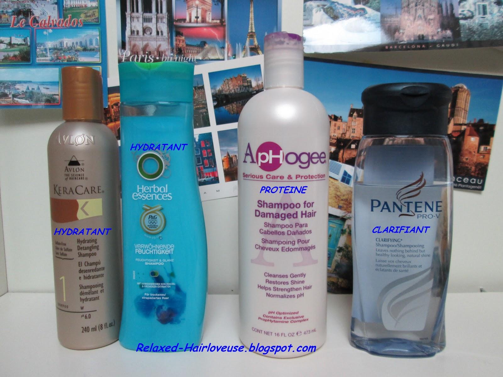 shampoing pour cheveux défrisés
