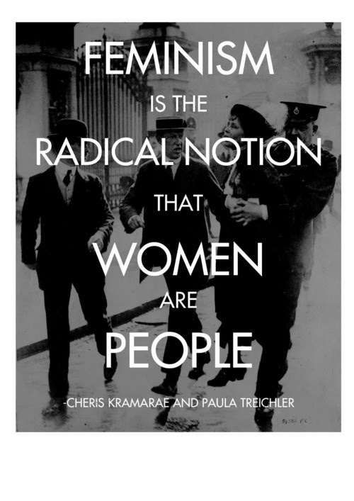 feminism is the radical notion that women are people