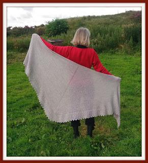 oceanspray knit shawl