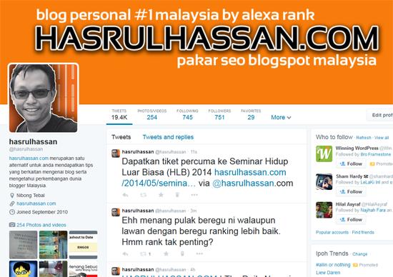 2 Tips Dapat Trafik Blog Menerusi Twitter