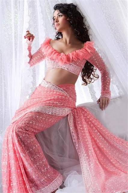 Pink Saree Trend For parties
