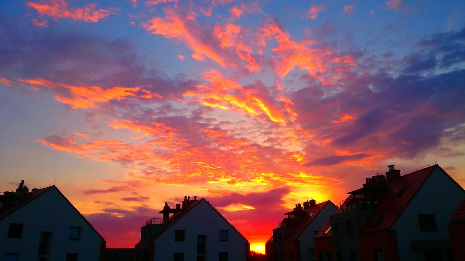 Zachód słońca osiedle bursztynowe