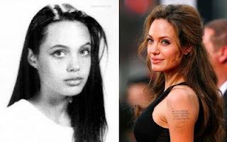 estrelas, famosas, hollyhood, atriz, fotos, angelina jolie, passado e presente