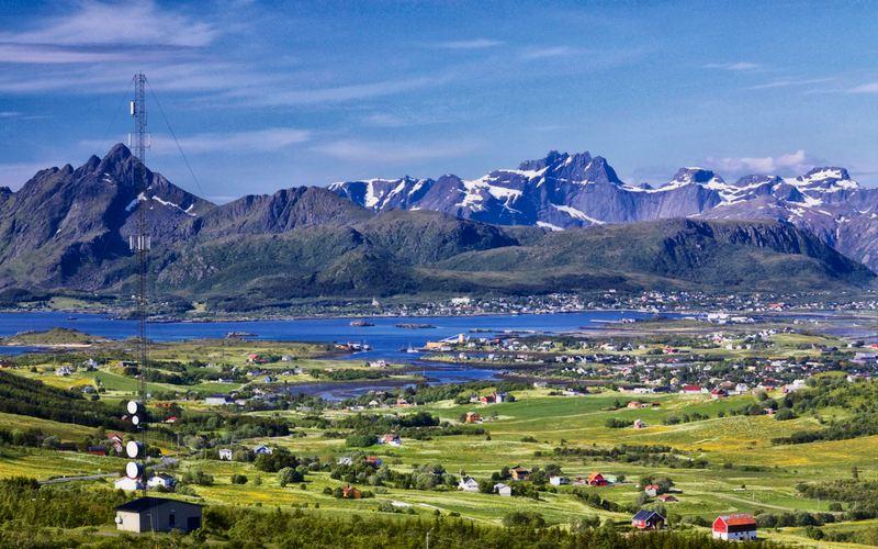 Leknes Lofoten Noruega