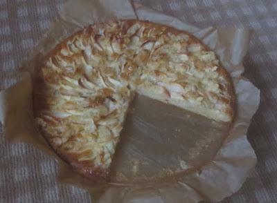 Apfelkuchen mit Mandelguss