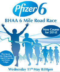 Cork BHAA Pfizers 6 mile...Ringaskiddy...Wed 11th May