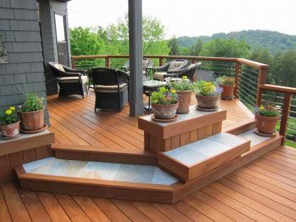 tarima exterior de madera para terrazas