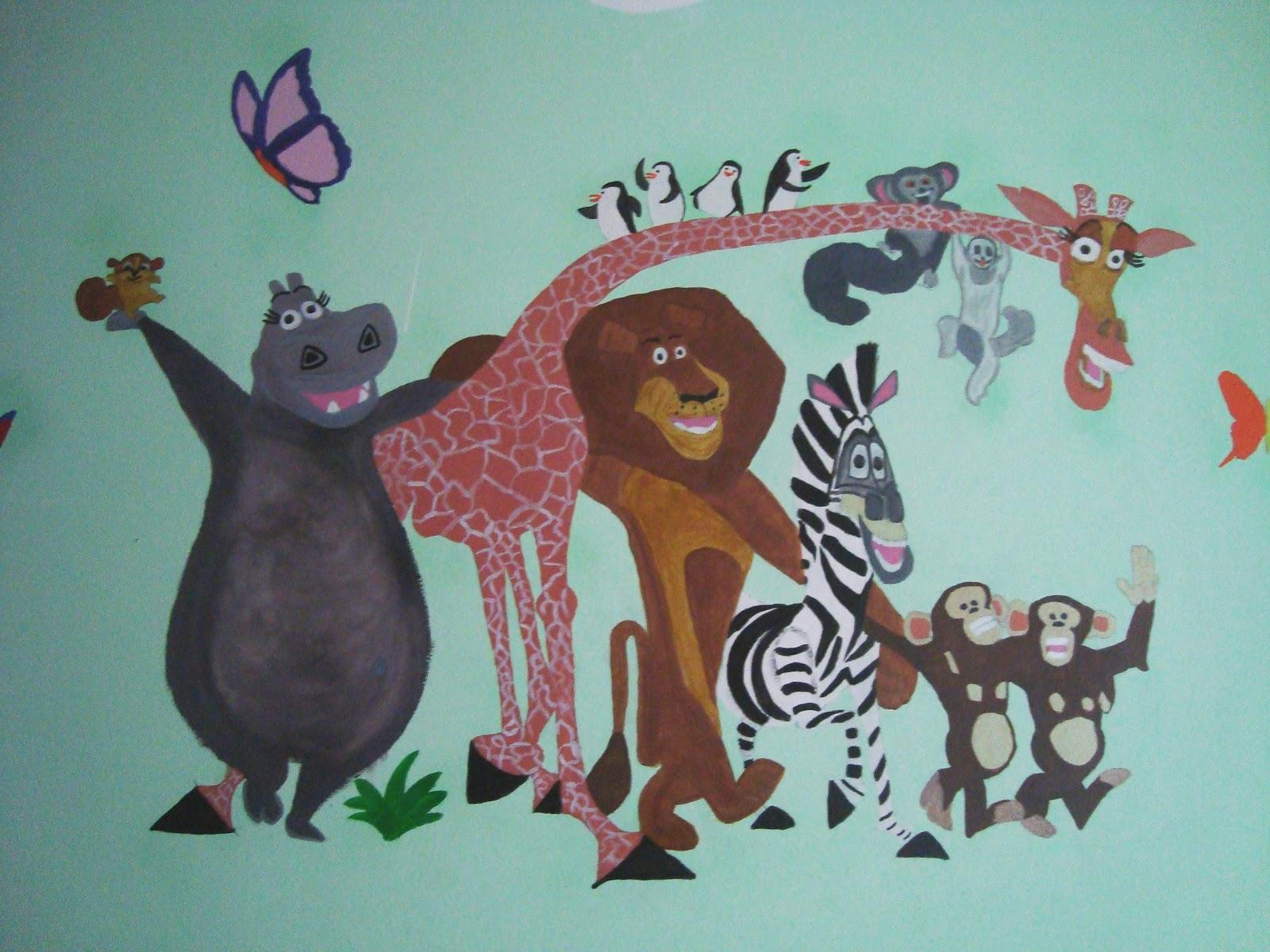 Mamma ed oltre e il riciclo creativo murales e disegni - Murales cameretta bimbi ...