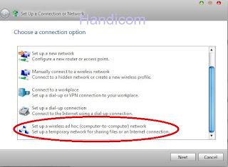 cara membuat hotspot sendiri dengan modem usb di windows7