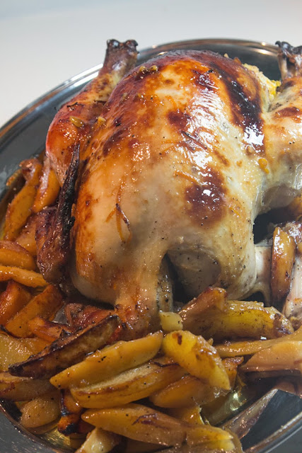 Stuffed chicken with Metaxa 3* orange and honey sauce, Mediterranean Diet, Athens Recipe