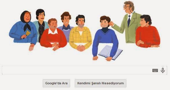 Google'dan 18 şubat Ertem eğilmez doodle