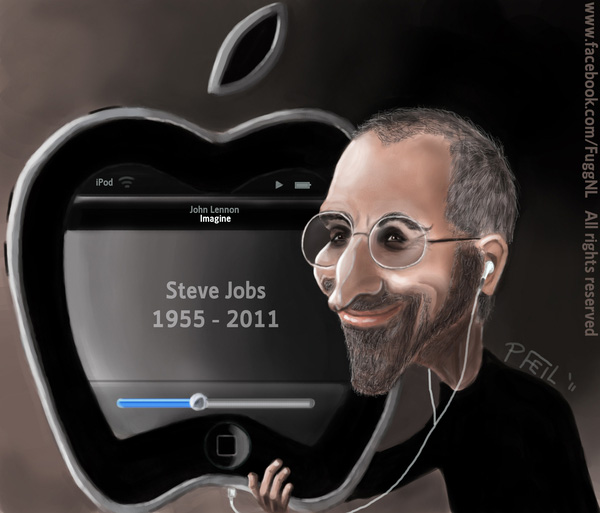pfeil 20 Awesome Graphical Tributes to Steve Jobs