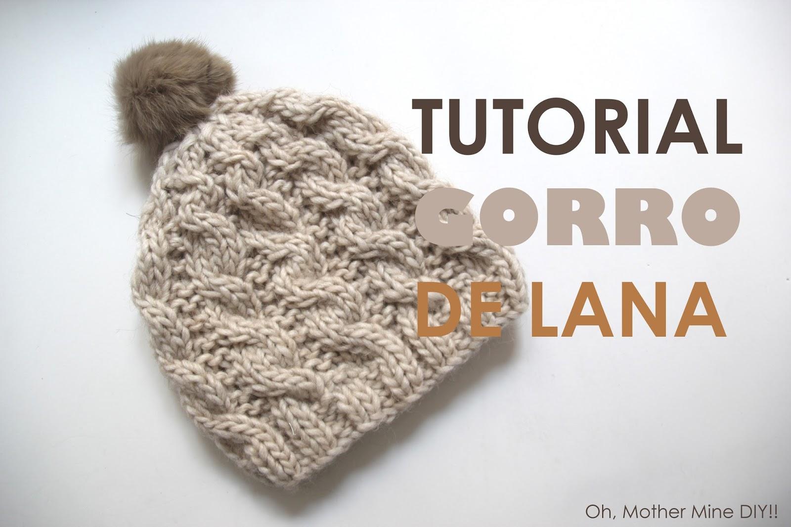 Tutorial de lana: Como hacer gorro trenzado (patrones gratis) | | Oh ...
