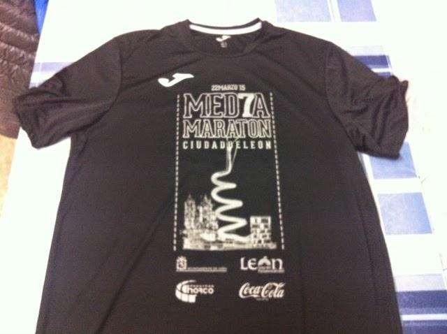 Foto Camiseta Media Maraton Leon 2015