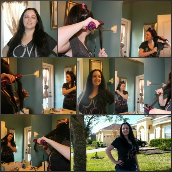 Step by step pictures of me straightening my long, thick, frizzy hair with the InStyler Max 2 Way Rotating Iron. I was amazed how well it worked on my hair, and how long the straightening effects lasted!