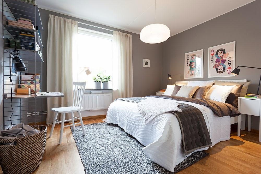 amenajari, interioare, decoratiuni, decor, design interior, dormitor, scandinav, gri