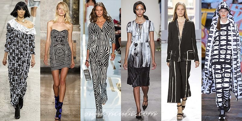 Black and White Contrast: Hot Spring Summer 2014 Fashion Trends