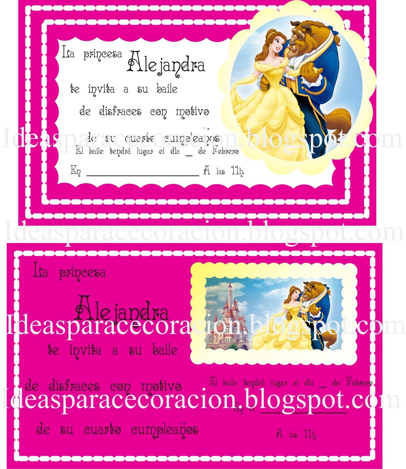 Ideas para la decoración de Fiestas Infantiles: Invitaciones de la ...