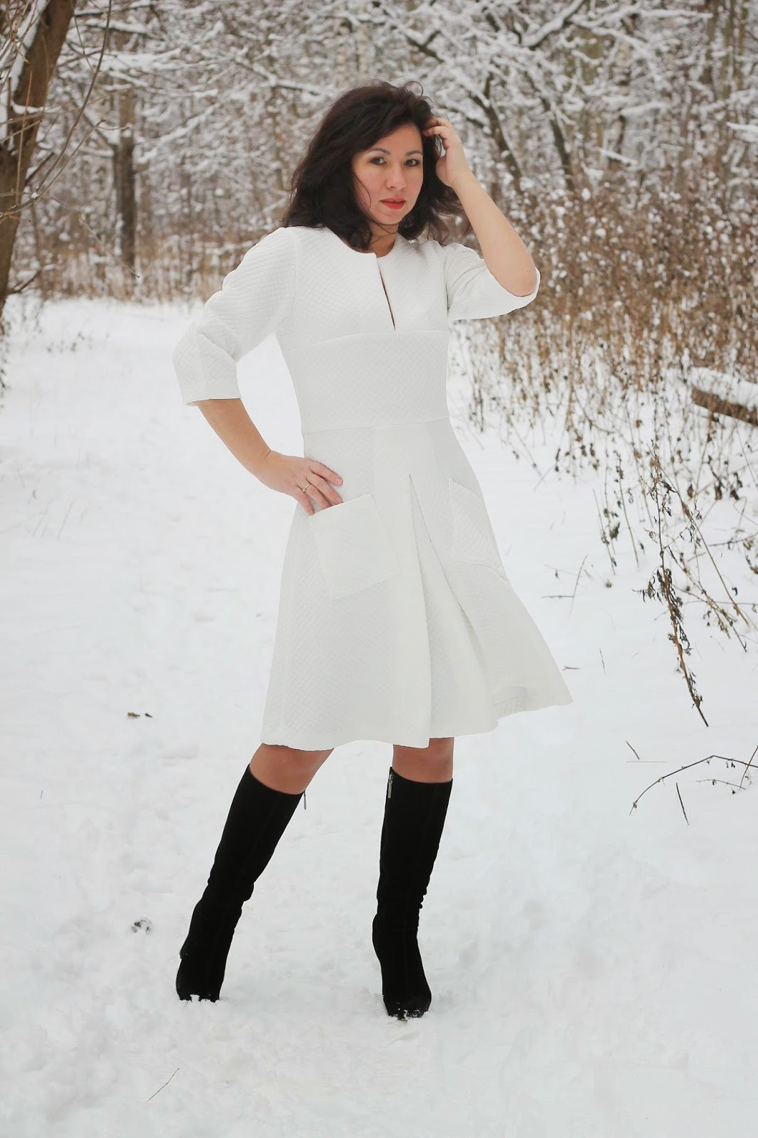 Как удлинить платье если оно в складку