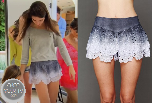 Keeping Up With The Kardashians: Season 8 Episode 11 Kendall's Ombre Lace Shorts