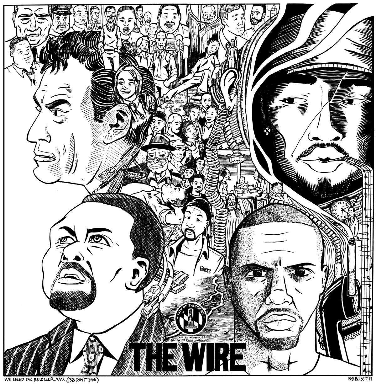 n8bliss art: A Mash-up of a different kind: The Wire vs. The Beatles