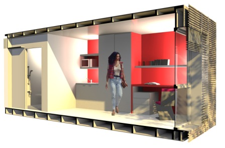 Actualit s architecture chambres d 39 tudiant 1 exemples for Chambre container