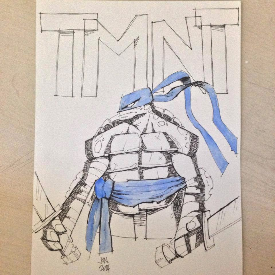 jonathan jon lankry 2D artist animation comic book animated tmnt leonardo teenage mutant ninja turtles idw