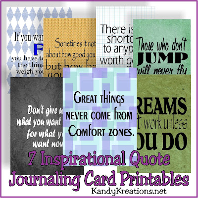 Inspire your family to be healthy, happy, and work with these seven inspirational journaling cards. These free printables are perfect for scrapbooking, using as lunchbox notes, iPhone wallpapers, or anything you need to keep you inspired to be healthy this year.