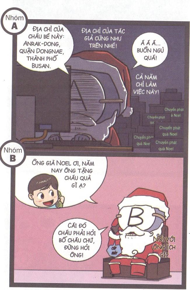Khi các nhóm máu đóng vai ông già Noel