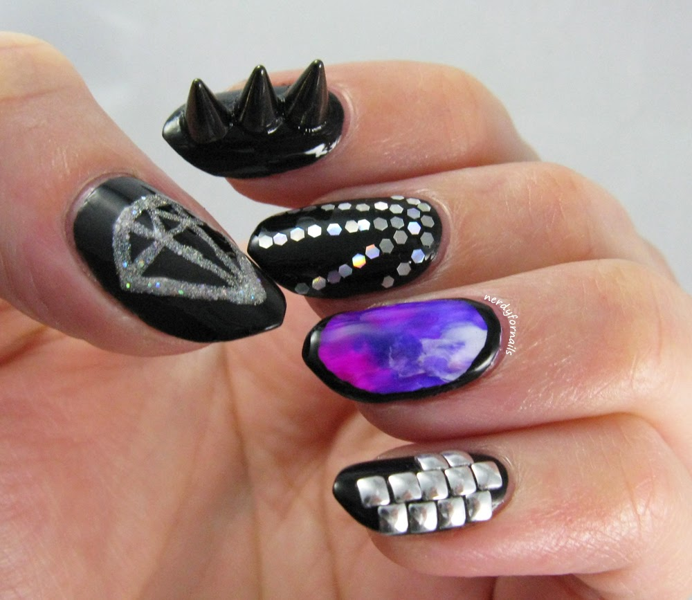 Nails inspired by 2NE1 I Am the Best