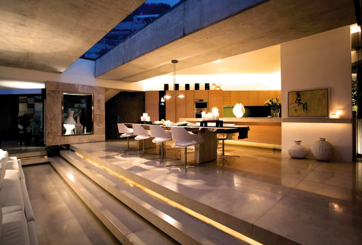 Modern cabinet amazing mansion house by saota overlooking for Villa de luxe moderne interieur