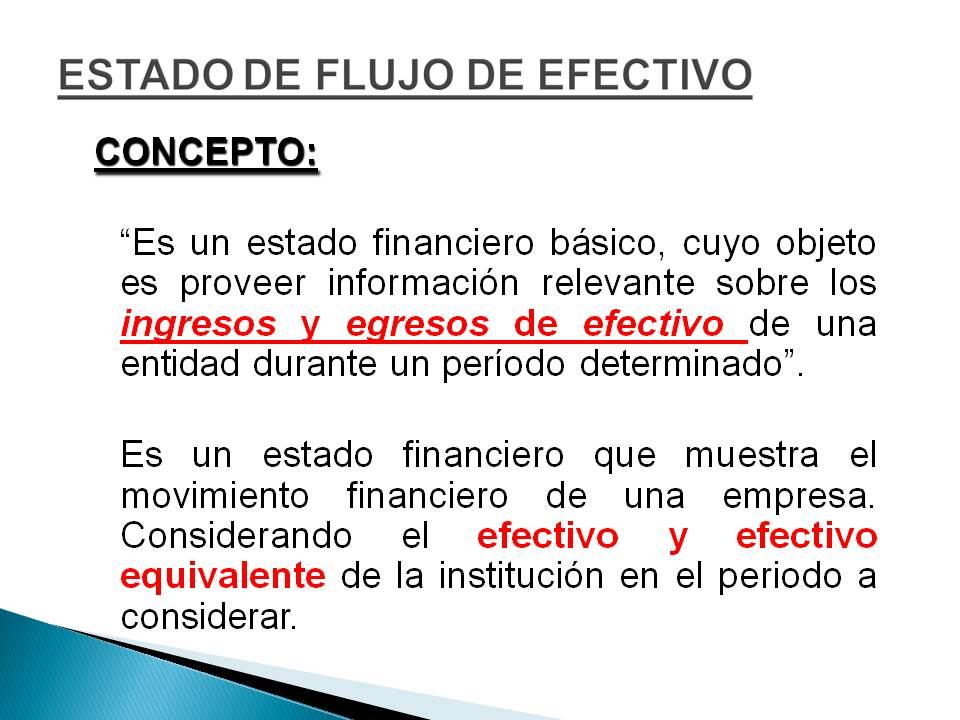 informes financieros  estado flujo de efectivo