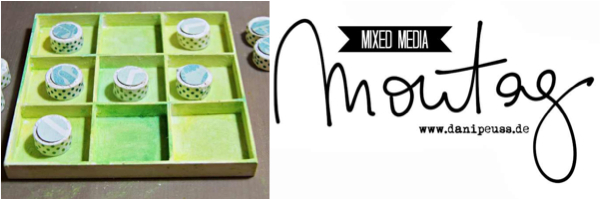 Mixed Media Montag | Tutorial Tic-Tac-Toe-Spiel | www.danipeuss.de